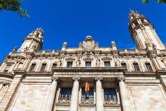 Barcelona Spanien - April 17, 2016: Post- och telegrafbyggnad Royaltyfri Foto