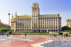 BARCELONA SPANIEN - AUGUSTI 28: Royaltyfria Foton