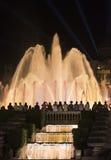Barcelona Spanien: den magiska springbrunnen Arkivbild