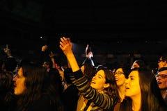 Delafe y Las Flores Azules Band führt bei Palau Sant Jordi durch Lizenzfreie Stockfotos