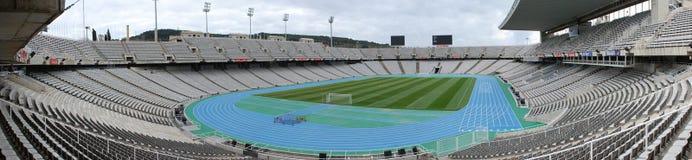 Panorama des Olympiastadions Barcelona Stockfotografie