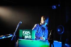 Ungar på bomma för DJ utför på Apolo Royaltyfri Fotografi