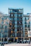 BARCELONA, SPANIEN - 12. FEBRUAR 2014: Ein schönes verziertes buil Lizenzfreies Stockbild