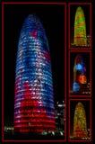 BARCELONA SPANIEN - Januari 01, 2015: Agbar torn som planläggs av Jea Fotografering för Bildbyråer