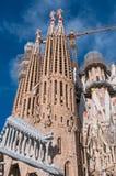BARCELONA SPANIEN - JANUARI 02, 2018: Domkyrkan av La Sagrada Royaltyfri Fotografi