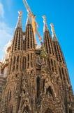 BARCELONA SPANIEN - JANUARI 02, 2018: Domkyrkan av La Sagrada Royaltyfria Foton