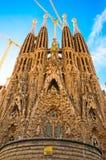 BARCELONA SPANIEN - JANUARI 02, 2018: Domkyrkan av La Sagrada Royaltyfri Bild