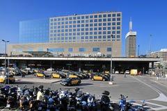 BARCELONA, SPANIEN - 8. Juli 2014 Ansicht des wailway stati Sants Stockbilder