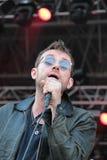 BARCELONA, SPANIEN - 11. JULI 2014: Damon Albarn, Sänger von der Unschärfe und Gorillaz, Ausführung Live Stockfoto
