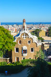 BARCELONA, SPANIEN - 22. JUNI: Park Guell in Barcelona, Spanien am 22. Juni 2016 Lizenzfreie Stockfotos