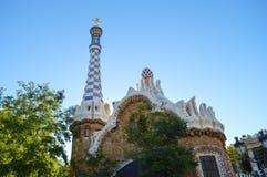 BARCELONA, SPANIEN - 22. JUNI: Park Guell in Barcelona, Spanien am 22. Juni 2016 Stockfotografie