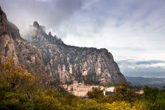 Barcelona Spanien, kloster av Montserrat Arkivfoton