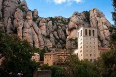 Barcelona Spanien, kloster av Montserrat Arkivfoto