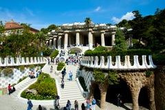 BARCELONA SPANIEN - Maj 24, 2016: arkivfoton