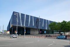 Barcelona Spanien - 2013 Maj: Blau museum, museum av naturvetenskap arkivfoton