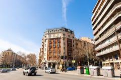 Barcelona Spanien. Avinguda Diagonal Arkivbilder