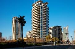 Barcelona Sant Marti område Arkivfoton