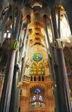 BARCELONA SPANIEN - NOVEMBER 15: Sagrada Familia på November 15, Arkivfoton