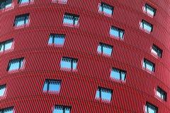 BARCELONA SPANIEN – OKTOBER 20: Hotell Porta Fira på Oktober 20, 2013 i Barcelona, Spanien. Hotellet är en byggnad för 28 berättel Royaltyfria Foton