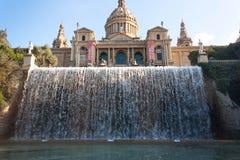 BARCELONA SPANIEN - OKTOBER 17, 2017 - nationellt museum Barcelon, Fotografering för Bildbyråer