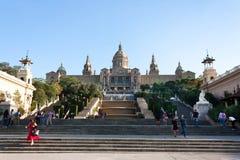 BARCELONA SPANIEN - OKTOBER 17, 2017 - nationellt museum Barcelon, Royaltyfri Fotografi