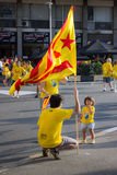 BARCELONA, SPANIEN - SEPT. 11: Familie Verkündungsingependence an Stockfotografie