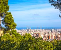 Barcelona Spanien September 15, 2014 royaltyfri foto