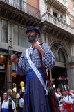 Barcelona, Spanien - 24. September 2016: Jährliches Festival Giants La-Merce führen vor Stockfotos