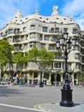 BARCELONA SPANIEN - SEPTEMBER 1, modernismstilarkitektur Ca Arkivbilder