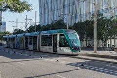 Barcelona, Spanien - 25. September 2016: Tram-Transport in Barcelona Lizenzfreies Stockfoto