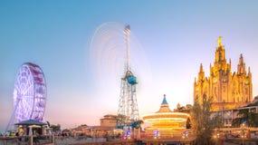 BARCELONA, SPANIEN, Tempel bei Tibidabo Stockfotografie