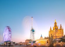BARCELONA, SPANIEN, Tempel bei Tibidabo Lizenzfreie Stockfotografie