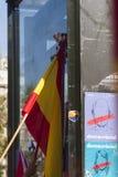 Barcelona Spanien, 8th Augusti 2017: Demonstration för enhet med Spanien Royaltyfri Fotografi
