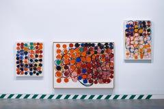 Barcelona, Spanje - April 21, 2016: Exhibiton van abstracte kunst in Antoni Tapies-stichting in Aragon Stock Foto's