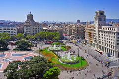 Placa Catalunya in Barcelona, Spanje Royalty-vrije Stock Fotografie