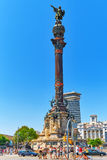 BARCELONA, SPANJE - AUGUSTUS 28: Monument van Columbus, Barcelona Royalty-vrije Stock Afbeeldingen