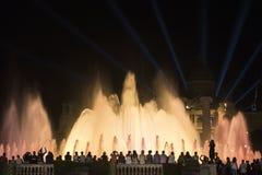 Barcelona Spanje: de Magische Fontein Royalty-vrije Stock Foto's