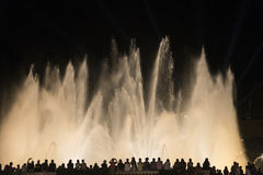 Barcelona Spanje: de Magische Fontein Stock Afbeeldingen