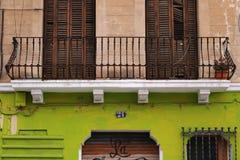 Barcelona, Spanje Een typische voorgevel van een Catalaans huis royalty-vrije stock afbeeldingen