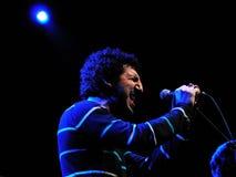 De band van Marwan y Luis Ramiro presteert in Luz DE Gas Stock Fotografie