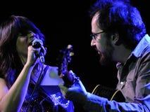 De band van Rebeca Jimenez presteert in Luz DE Gas Royalty-vrije Stock Foto's