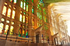 BARCELONA, SPANJE - NOVEMBER 15: Sagrada Familia op 15 November, Royalty-vrije Stock Afbeelding