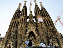 Barcelona Spanje Sagrada FamÃlia Stock Afbeelding