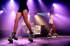 De carte blanche deejays presteert in Razzmatazz Royalty-vrije Stock Fotografie
