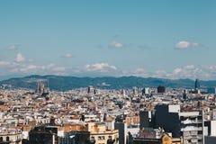 BARCELONA, SPANJE - 16 sept., het Landschapsmening van 2017 van Nationaal Art Museum van Catalonië - hoofdvierkant - Kapitaal van Stock Foto's