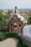 Barcelona, Spanje - 24 September 2016: Park Guell Casa del Guarda - de Portiers brengen onder Royalty-vrije Stock Afbeeldingen