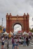 Barcelona, Spanje - 25 September 2016: 36 wijn en Cava Festival 2016 bezoekers Royalty-vrije Stock Foto