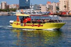 Barcelona Speed Boat - Port Vell Stock Images
