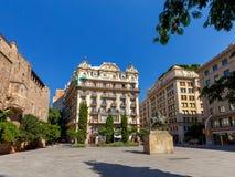 Barcelona. Square of Ramon Berenguer. Stock Photos