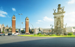 Barcelona, Square of Spain Royalty Free Stock Images